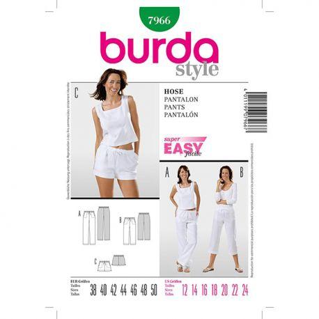 Patron Burda Style 7966 Pantalon 38/50