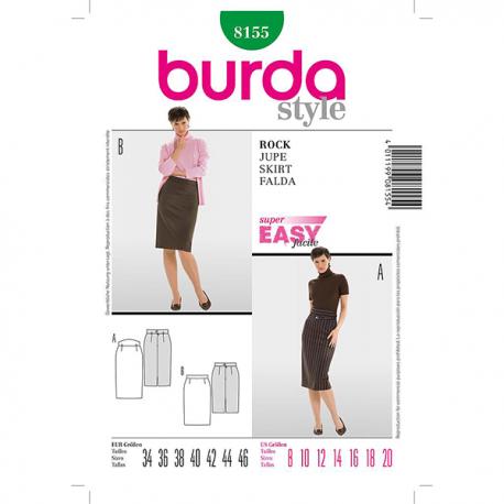 Patron Burda Style 8155 Jupe 34/46