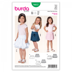 Patron Burda Kids 9413 Jupe Fillette 98/140CM