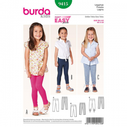 Patron Burda Kids 9415 Legging Fille 98/140CM