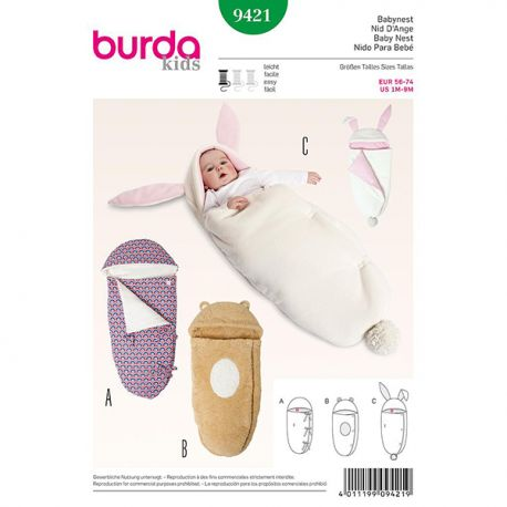 Patron Burda Kids 9421 Nid d'Ange 56/74CM