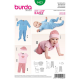 Patron Burda Kids 9423 Ensemble Bébé 56/80CM