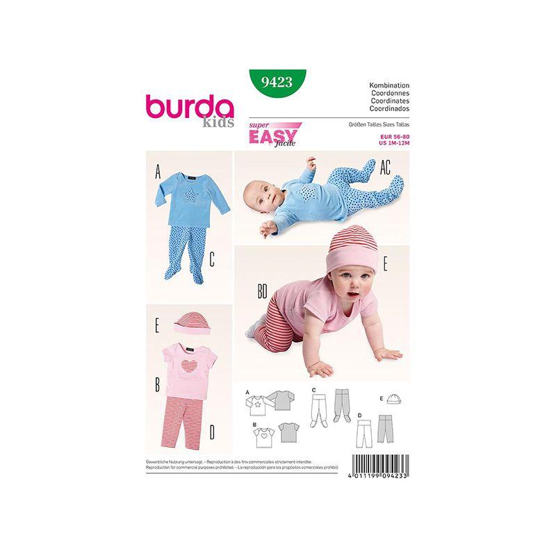Patron Burda Kids 9423 Ensemble Bébé 56/80CM