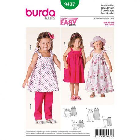Patron Burda Kids 9437 Coordonnées 86/116