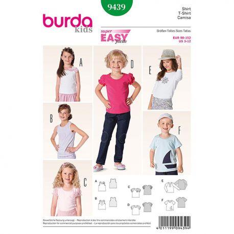 Patron Burda Kids 9439 Tshirt 98/152