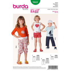 Patron Burda Kids 9441 Pantalon 98/134