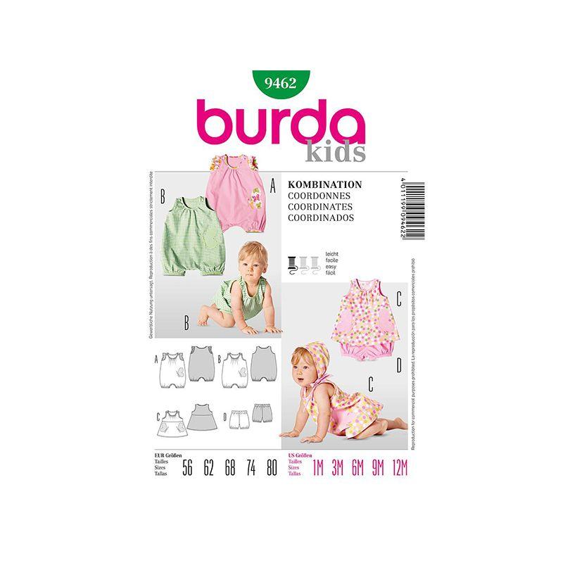 Patron Burda Kids 9462 Ensemble bébé 56/80