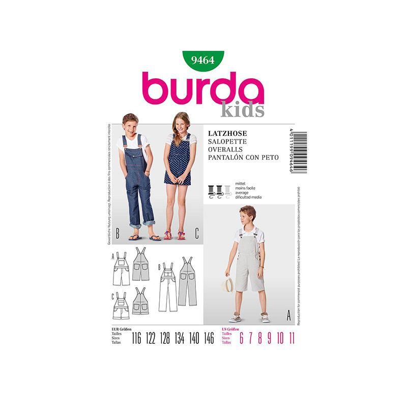 Patron Burda Kids 9464 Salopette 116/146