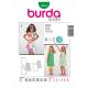 Patron Burda Kids 9544 Robe 110/140
