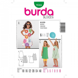 Patron Burda Kids 9544 Robe 110/140