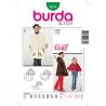 Patron Burda Kids 9674 Manteau Cape 104/140