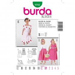 Patron Burda Kids 9702 Robe et Veste 86/110