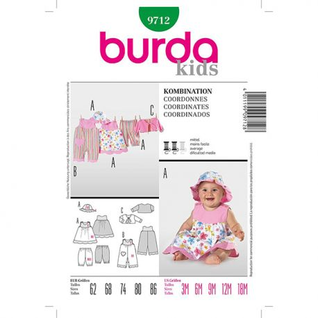 Patron Burda Kids 9712 Ensemble 62/86