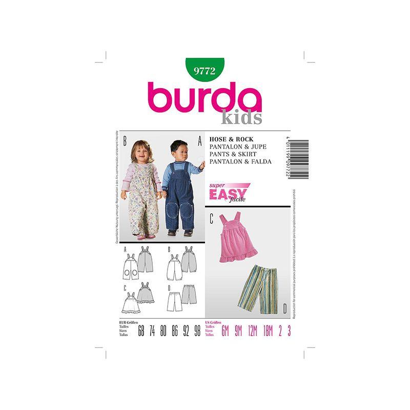 Patron Burda Kids 9772 Pantalon et Jupe 68/98