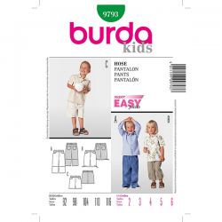 Patron Burda Kids 9793 Pantalon 92/116