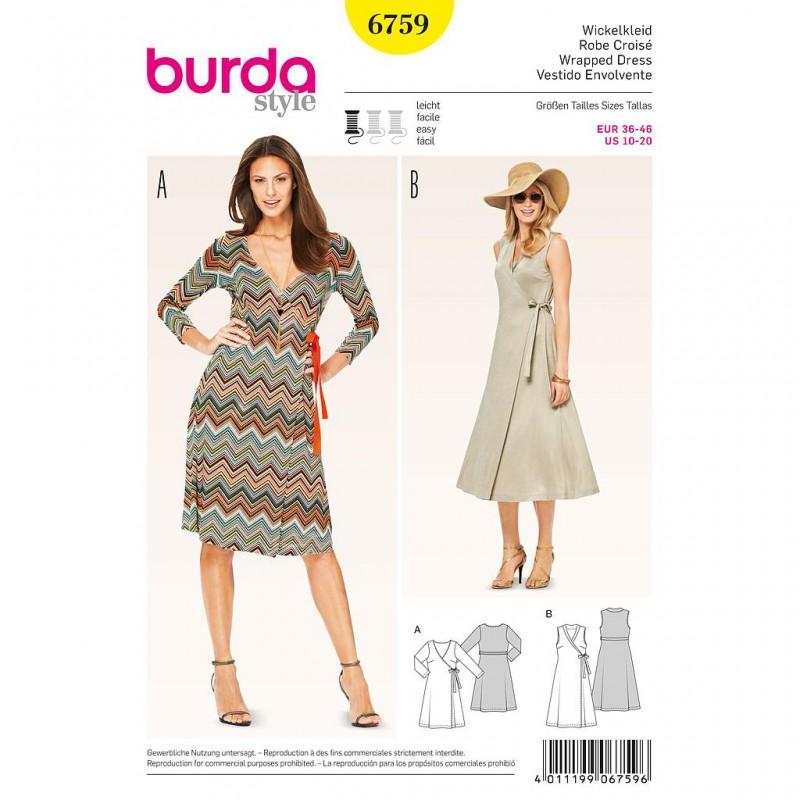 Patron Burda Style 6759 Robe 36/46