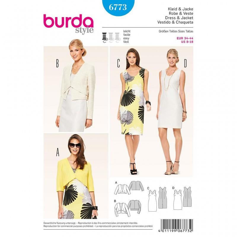 Patron Burda Style 6773 Robe et Veste 34/44