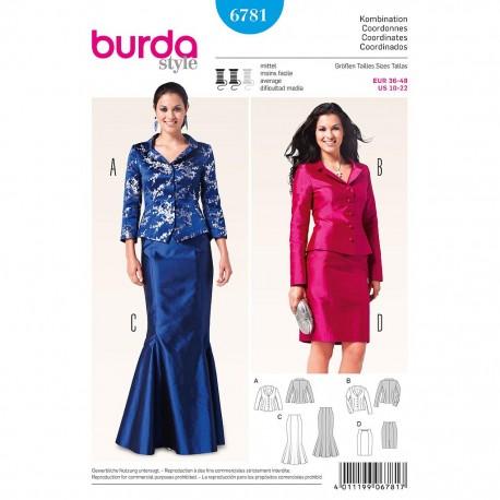 Patron Burda Style 6781 Ensemble Dame 36/48