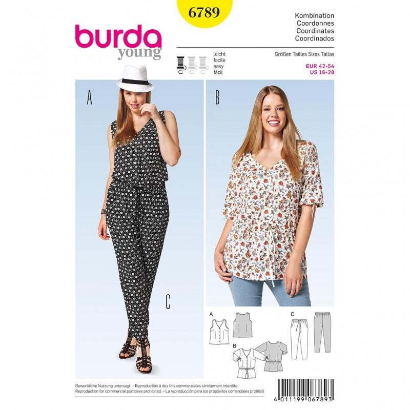 Patron Burda Style 6789 Ensemble Dame 42/54