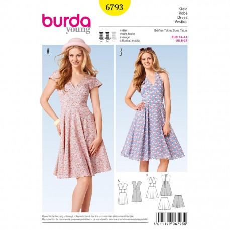 Patron Burda Style 6793 Robe 34/44