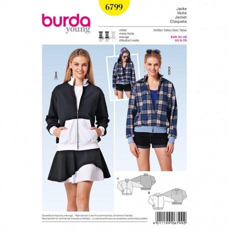 Patron Burda Style 6799 Veste 34/46