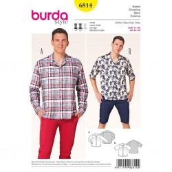 Patron Burda Style 6814 Chemise Homme 44/60
