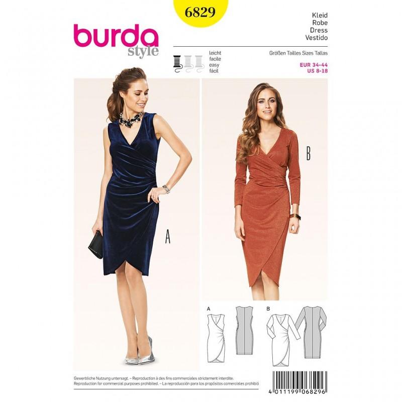 Patron Burda Style 6829 Robe 34/44