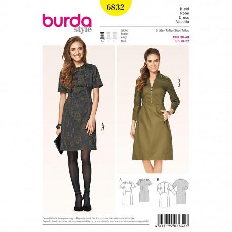 Patron Burda Style 6832 Robe 36/48