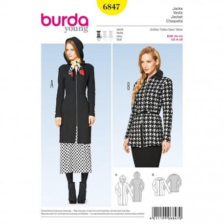Patron Burda Style 6847 Veste 34/44