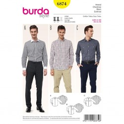 Patron Burda Style 6874 Chemise 44/60