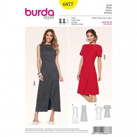 Patron Burda Style 6877 Robe 36/46