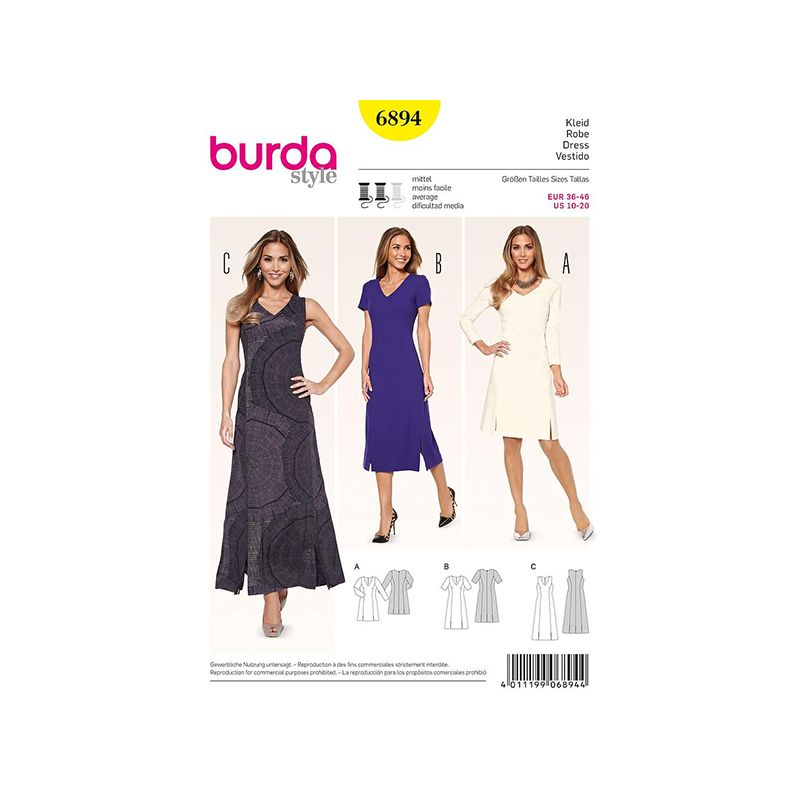 Patron Burda Style 6894 Robe 36/46