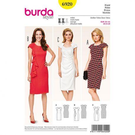 Patron Burda Style 6920 Robe 34/44