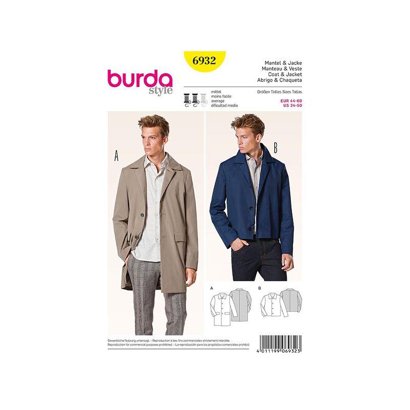 Patron Burda Style 6932 Manteau et Veste 44/60
