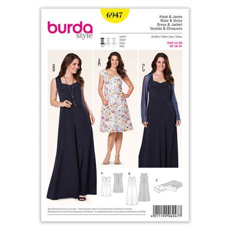 Patron Burda Style 6947 Robe et Veste 44/60