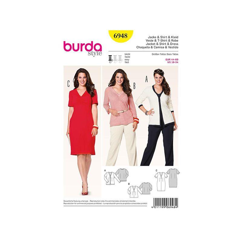 Patron Burda Style 6948 Veste et T-Shirt 44/60