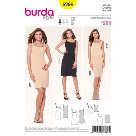 Patron Burda Style 6964 Lingerie 36/50