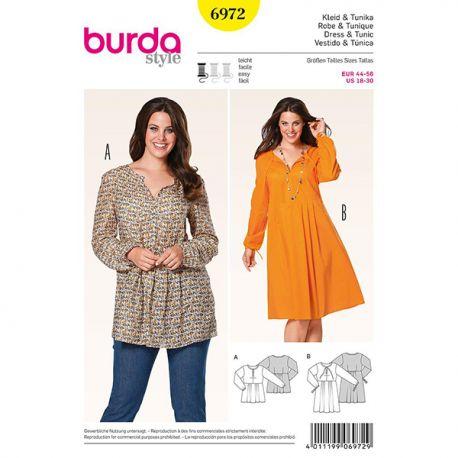 Patron Burda Style 6972 Robe et Tunique 44/56