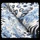 Tissu Gabardine Coton Afrique Bleu