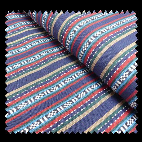 Tissu Pancho Bleu