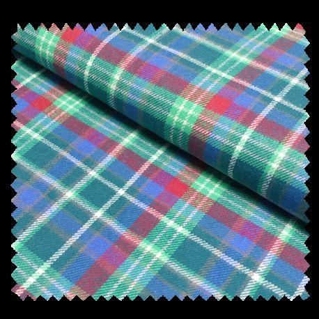 Tissu Flanelle écossaise Pétrole