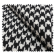 Tissu Pied de Coq Noir