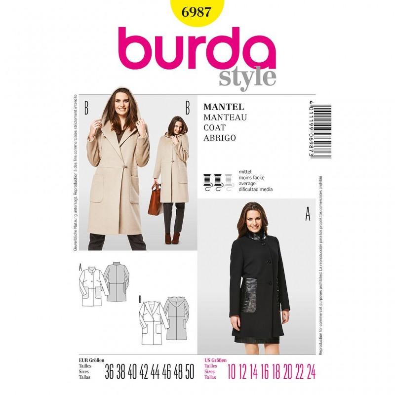 Patron Burda Style 6987 Manteau 36/50