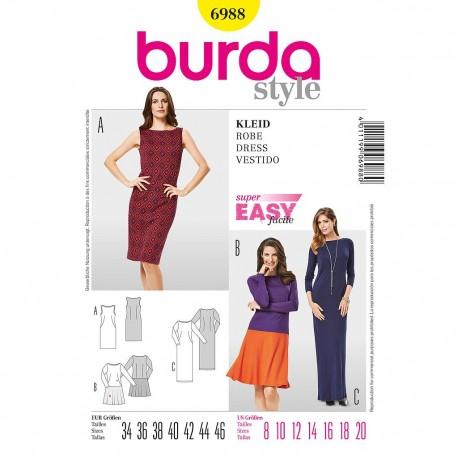 Patron Burda Style 6988 Robe 34/46