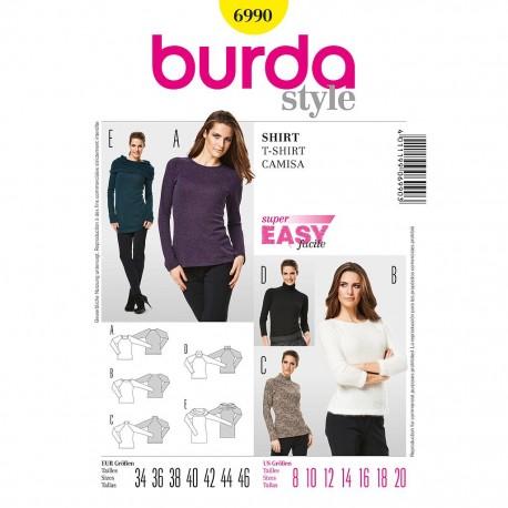 Patron Burda Style 6990 T-Shirt 34/46