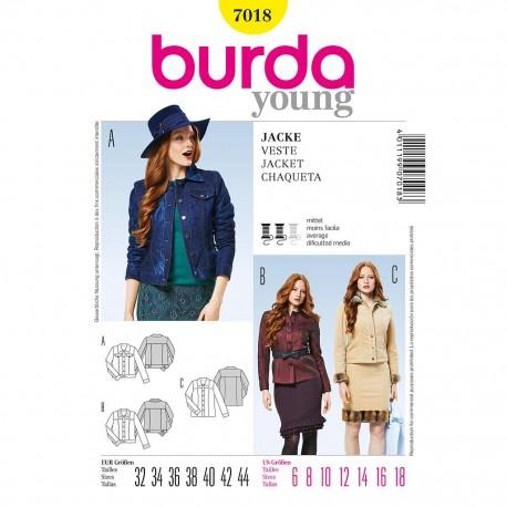 Patron Burda Style 7018 Veste 32/44