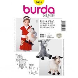 Patron Burda Style 7038 Peluche Ane et Mouton