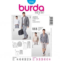 Patron Burda Style 7046 Ensemble Homme 44/54