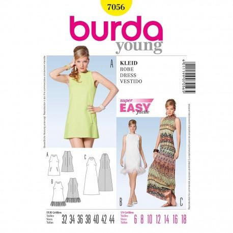 Patron Burda Style 7056 Robe 32/44