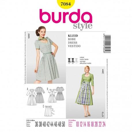 Patron Burda Style 7084 Robe 36/50